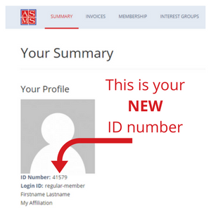 This is your NEW ID number